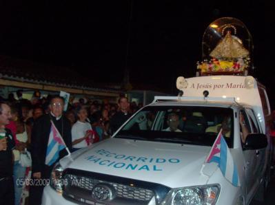 CAIBARIÉN RECIBE A LA PATRONA DE CUBA
